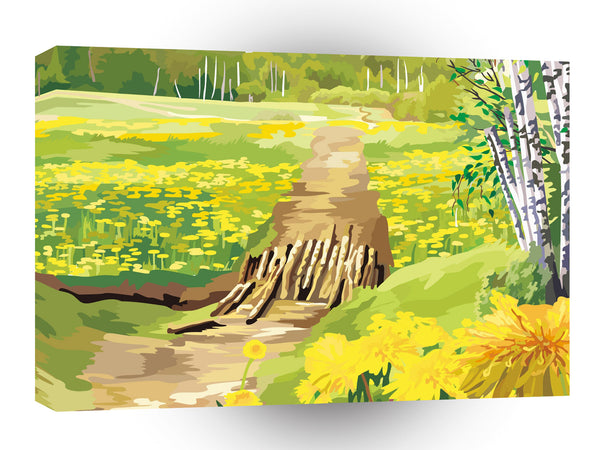 Scenery Bevers Brook Dandelions A1 Xlarge Canvas