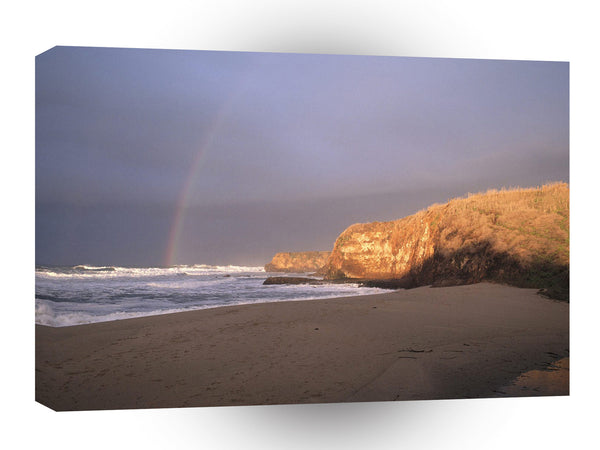 Sky A Rainbow That Leads To Pacific Gold A1 Xlarge Canvas