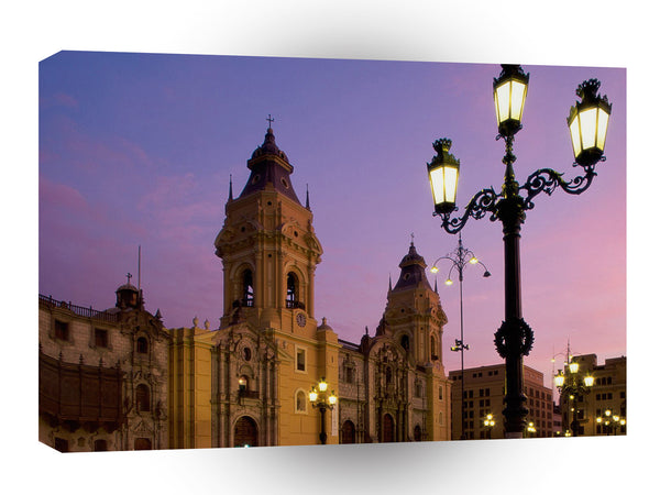 South America Cathedral Plaza De Armas Lima Peru A1 Xlarge Canvas