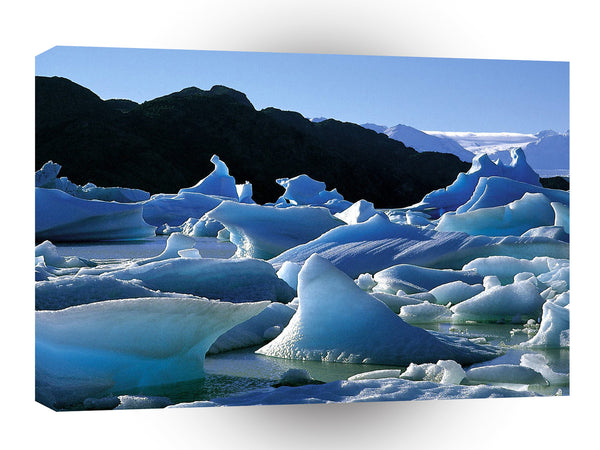 South America Icebergs Torres Del Painepark Chile A1 Xlarge Canvas