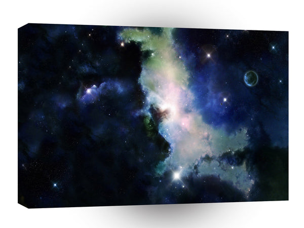 Space Cloudy Nebula Peace A1 Xlarge Canvas