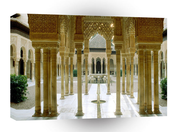Spain Court Lions Alhambra Granada A1 Xlarge Canvas