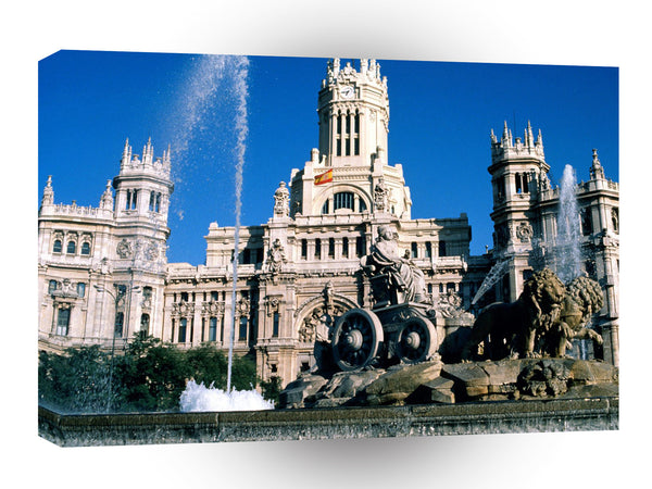 Spain Plaza De Cibeles Madrid A1 Xlarge Canvas