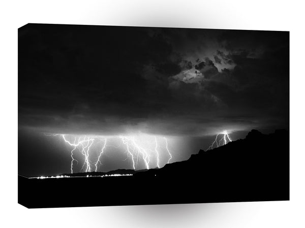 Storm Lightning Rains Down A1 Xlarge Canvas