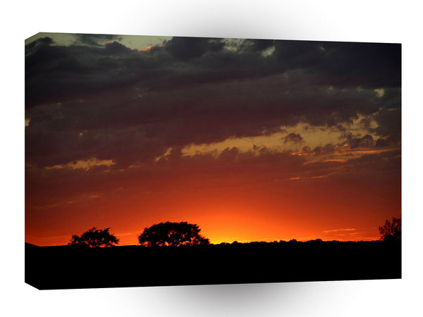 Sunset African Nature A1 Xlarge Canvas