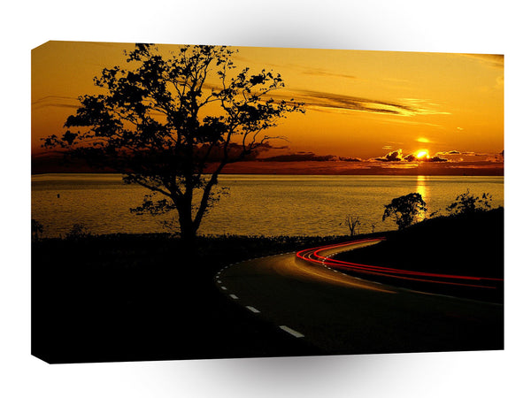 Sunset Amazing Corner View A1 Xlarge Canvas