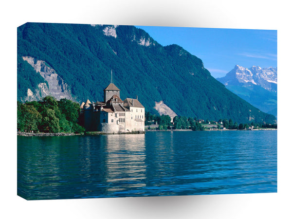 Switzerland Chateau De Chillon Lake Geneva A1 Xlarge Canvas