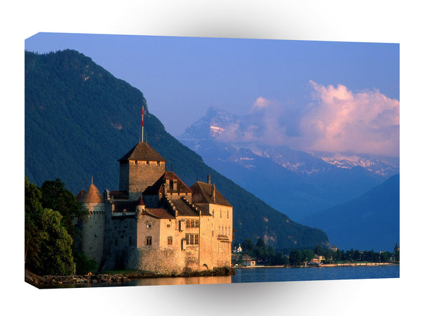 Switzerland Chateau De Chillon Montreu A1 Xlarge Canvas