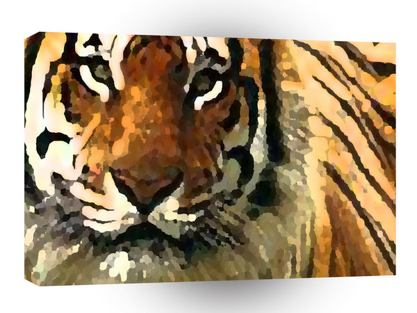 Tiger Abstracted View A1 Xlarge Canvas