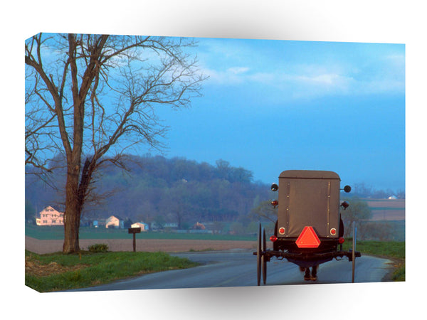 United States Amish Buggy Lancaster County Pennsylvania A1 Xlarge Canvas