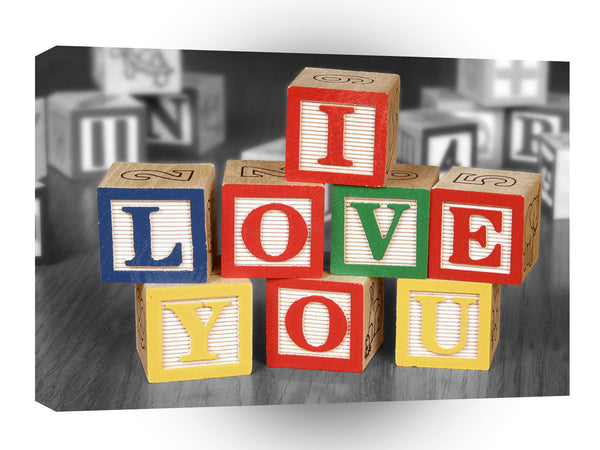 Valentines Day Blocks Of Love A1 Xlarge Canvas