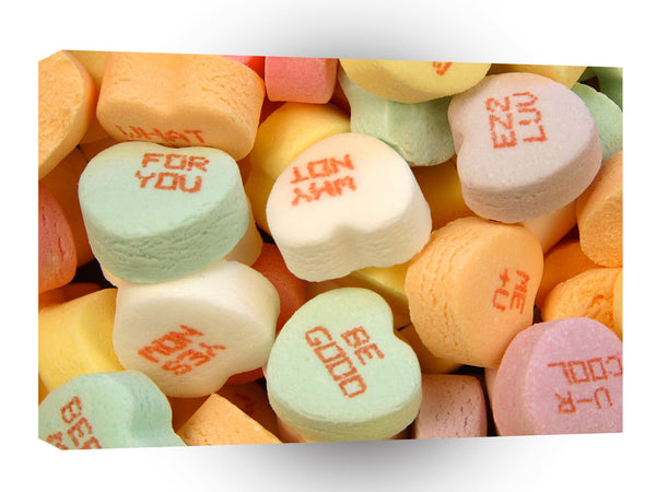 Valentines Day Conversation Hearts A1 Xlarge Canvas