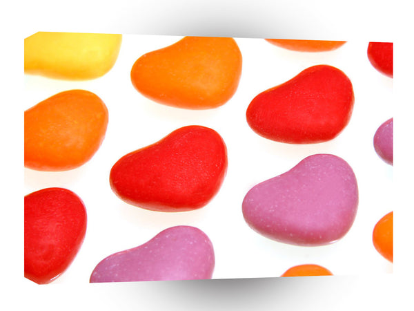 Valentines Day Heart Candy A1 Xlarge Canvas