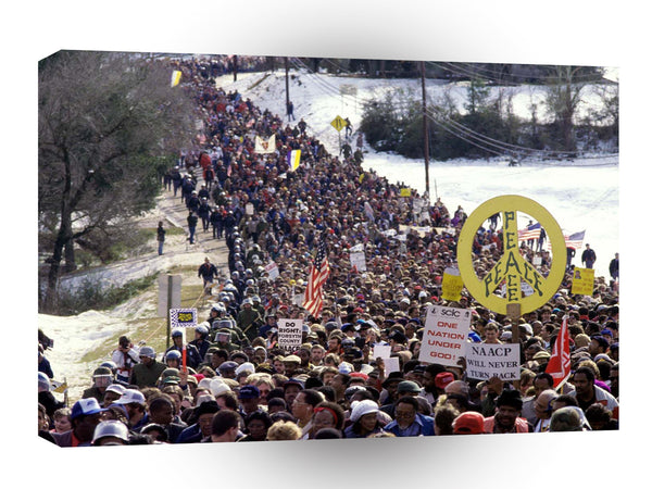 Vintage Mix Civil Rights March Georgia A1 Xlarge Canvas