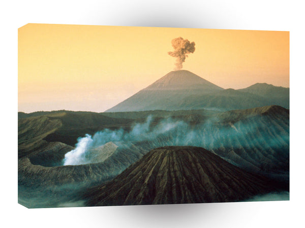 Volcano Indonesian Eruption A1 Xlarge Canvas