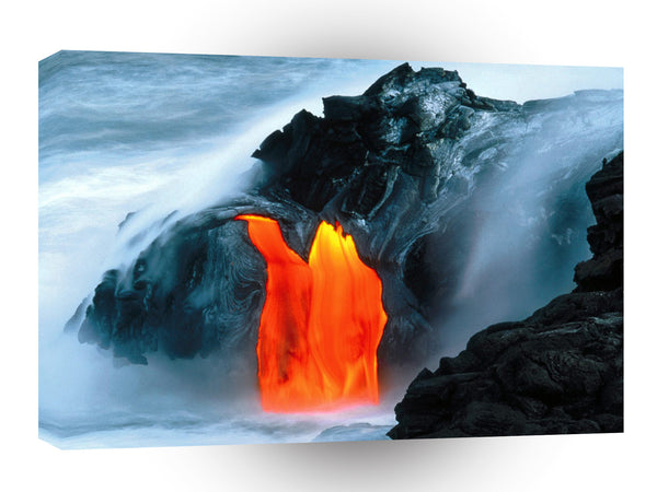 Volcano Lava Flow From Kilauea Hawaii A1 Xlarge Canvas