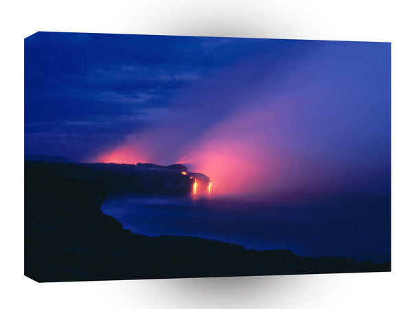 Volcano Lava Flow Kilauea Hawaii A1 Xlarge Canvas