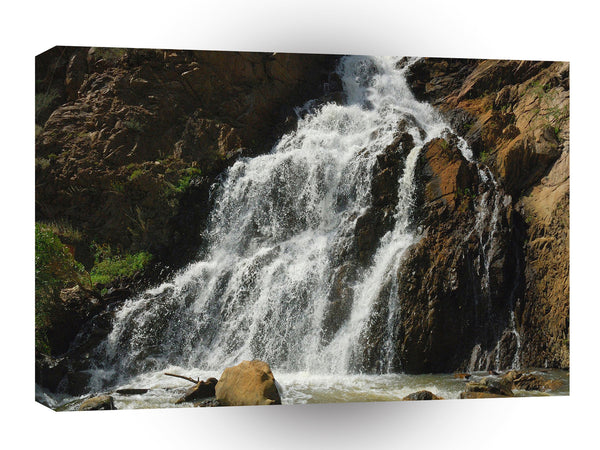 Water A Nice River Falls A1 Xlarge Canvas