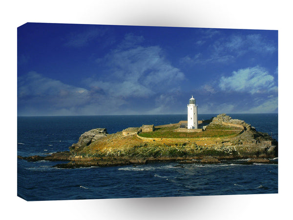 Water A Rocky Light House A1 Xlarge Canvas