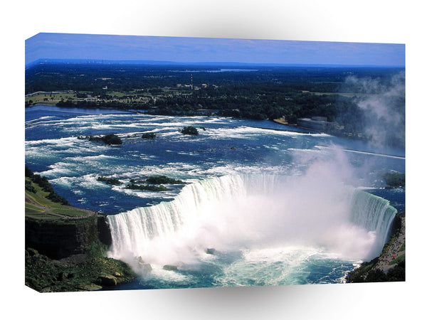 Waterfall Aerial View Of Niagara Ontario Canada A1 Xlarge Canvas
