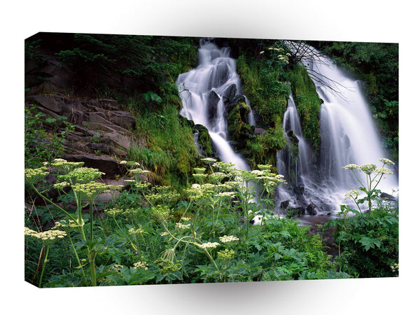 Waterfall Cascading Umpqua A1 Xlarge Canvas