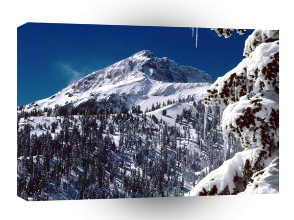 Winter Brokeoff Mountain Lassen Volcanic A1 Xlarge Canvas