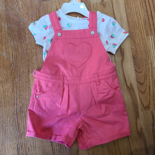 Little Me Heart Shortall Set