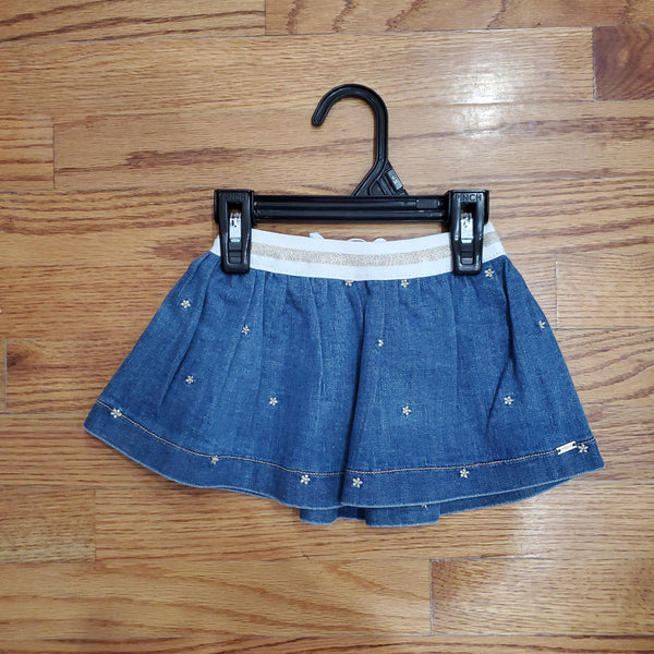 Mayoral Denim Skirt with Gold