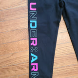 UA Youth Favorite Legging black-Aqua/Fuschia