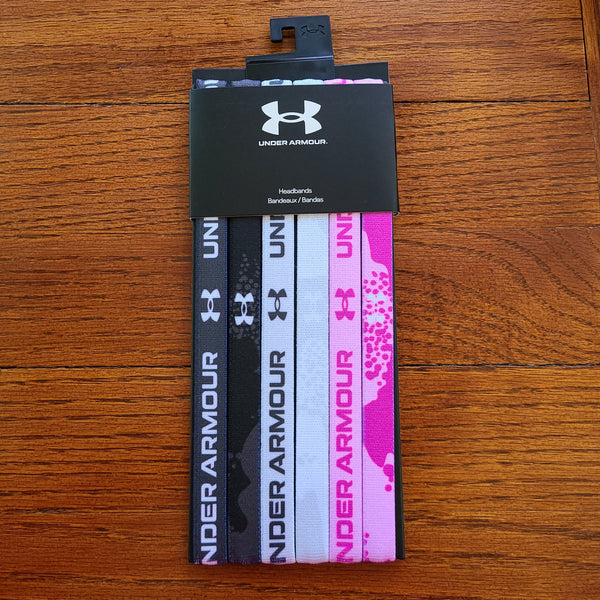 Under Armour Girls Headband-Gray/Fuchsia