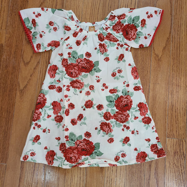 Up Baby Red Floral Dress