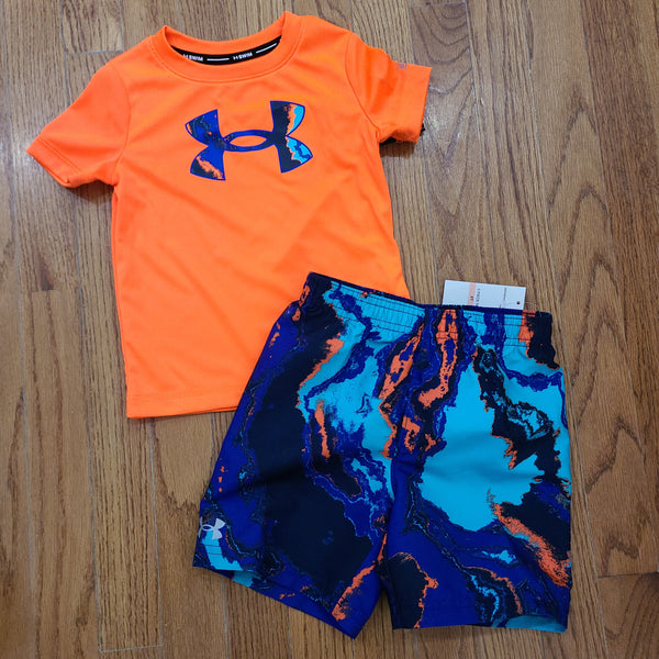 Under Armour Blaze Orange 2pc swim set