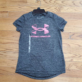 UA Youth Graphic Twist Big Logo-Charcoal