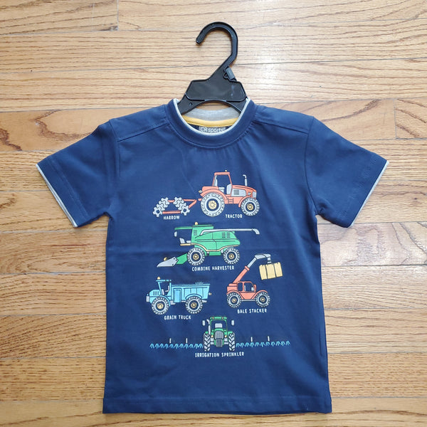 CR Sports Navy Farming T-Shirt