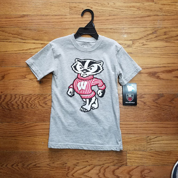 Badger Wes & Willy Gray Bucky Tee