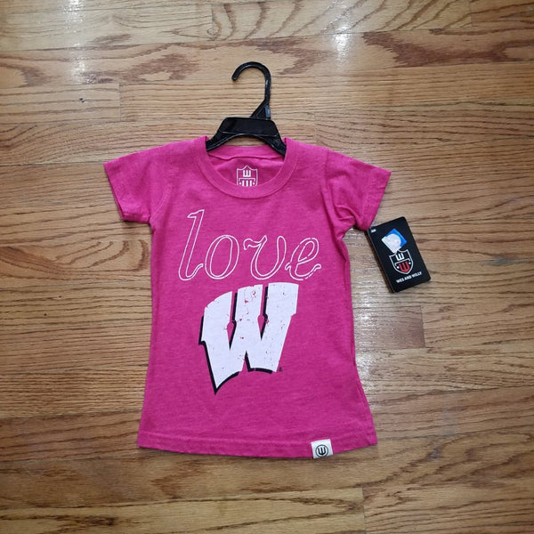 Badger Wes & Willy Pink Love Tee