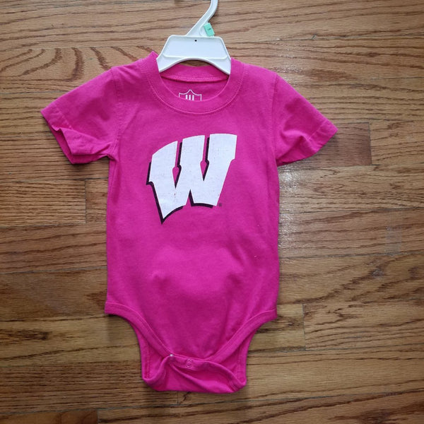 Badger Wes & Willy Pink Onesie
