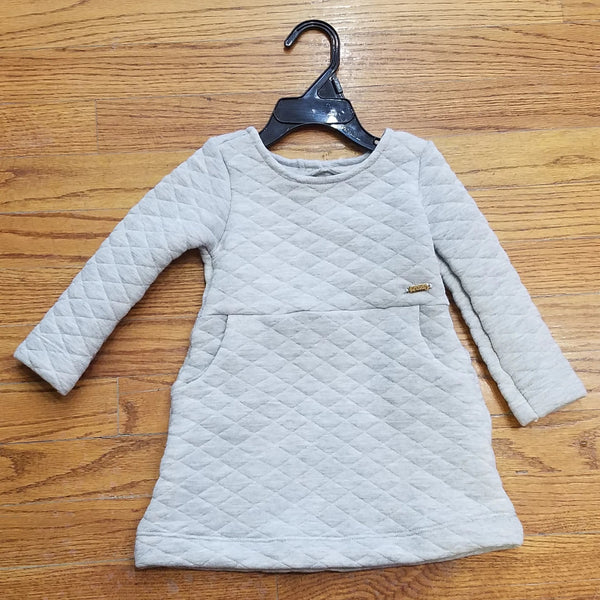 Up Baby gray quilted dress