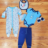 Mother's Choice 6pc boys I love you to the moon & back set