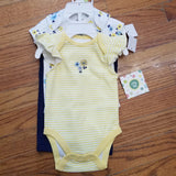 Little Me 3pc yellow flower set