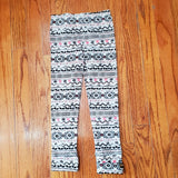 Noruk Coral & Black Pattern Leggings