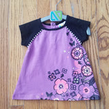 Noruk Purple with Flowers Tunic