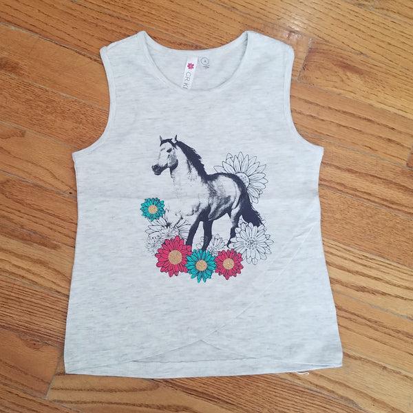 CR Sports Floral Horse Tank