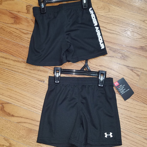 UA Plain Black with White Logo Short