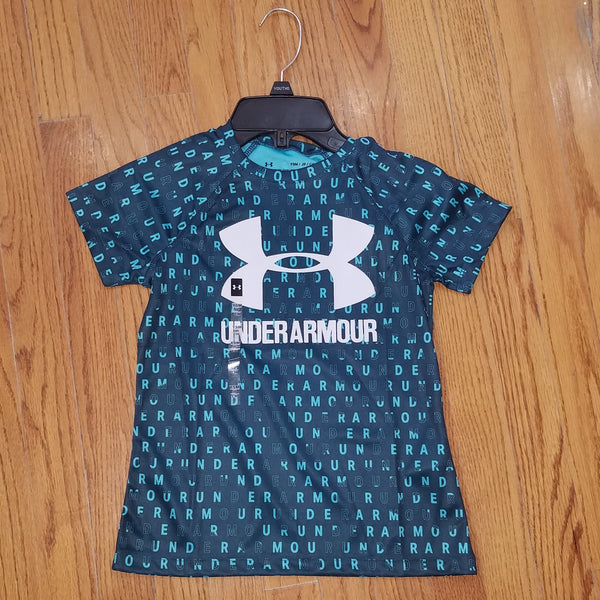 UA Youth Teal Letter Tee