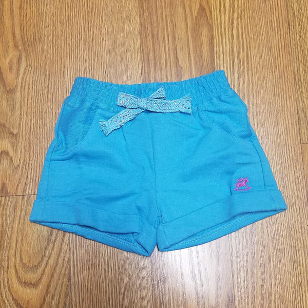 Up Baby Aqua Sparkle Sweat Shorts
