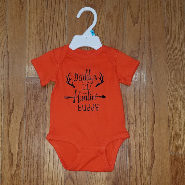 Daddy's lil Hunting Buddy onesie