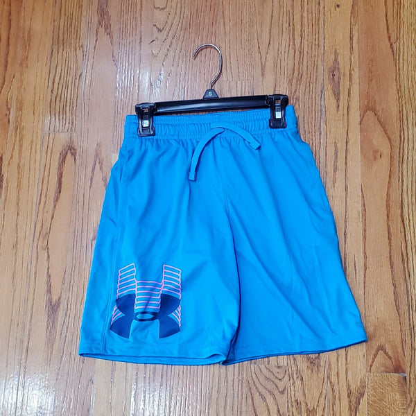 UA Youth Protoype Logo Short-Aqua
