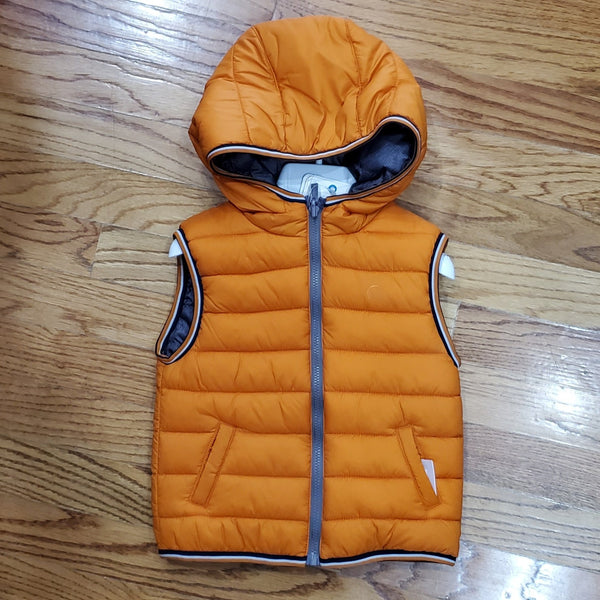 Mayoral Reversible Orange/ Gray Vest