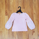 ML Kids Blush Long Sleeve Ruffle Top